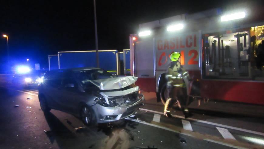 Prometna nesreča na ajdovski obvoznici!