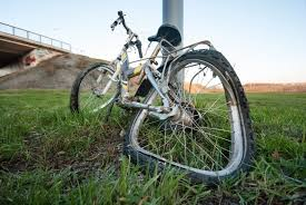 Padec kolesarke!