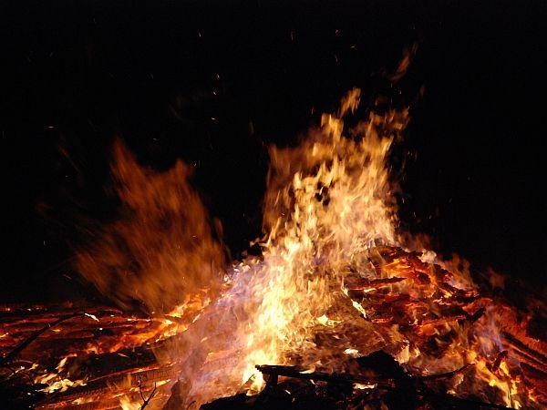 Zagorel kup odpadnega lesa v Budanjah!