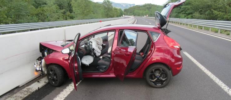 Prometna nesreča na hitri cesti Selo-Ajdovščina!