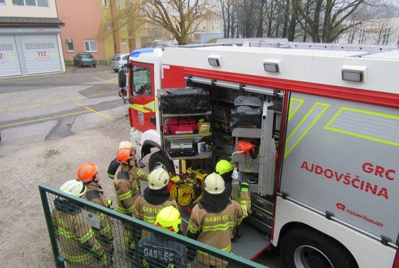 Usposabljanje prostovoljnih gasilcev