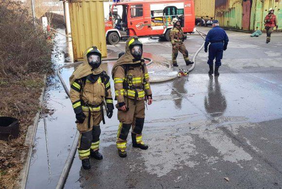 Usposabljanje za gašenje notranjih požarov
