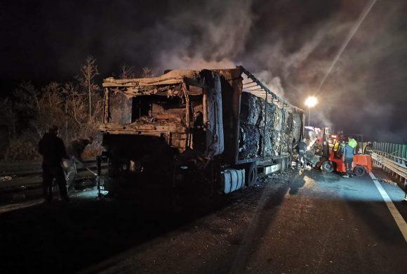 Požar tovornega vozila